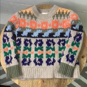 Burberry children 100% cashmere multicolor sweater